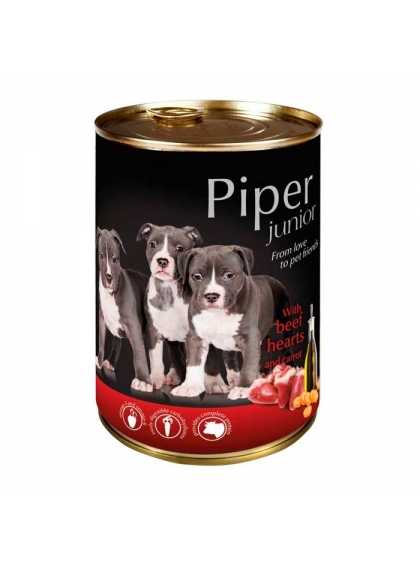 Piper Dog - Junior c/ Vaca e Cenoura 400gr