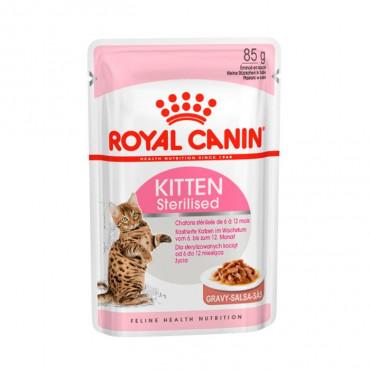 Ração para gato Royal Canin Wet Kitten Sterilised Gravy