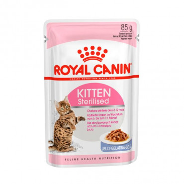 Royal Canin Kitten Sterilised em gelatina