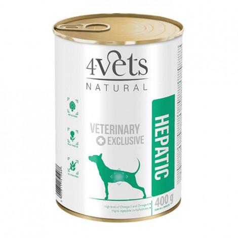 4Vets - Veterinary Diet Hepatic 3 Latas + 1 Lata OFERTA