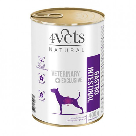 4Vets - Veterinary Diet Gastro Intestinal 3 Latas + 1 Lata OFERTA
