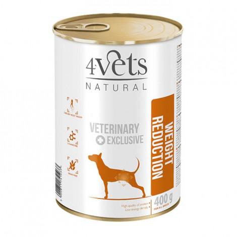 4Vets - Veterinary Diet Weight Reduction 3 Latas + 1 Lata OFERTA