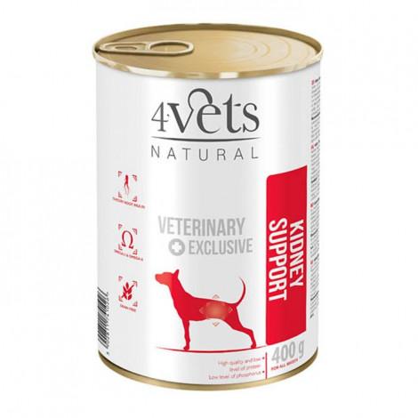 4Vets - Veterinary Diet Kidney Support 3 Latas + 1 Lata OFERTA