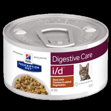 i/d Feline - Digestive Care Frango e Vegetais 82gr