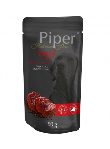 Piper Dog - Platinum Pure c/ Vaca e Arroz Integral