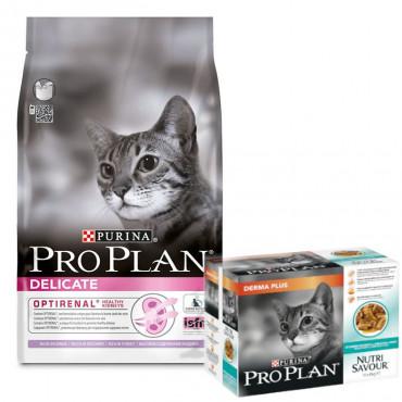 Pro Plan - Delicate Perú 3kg + OFERTA 1 Pack Nutrisavour DermaPlus