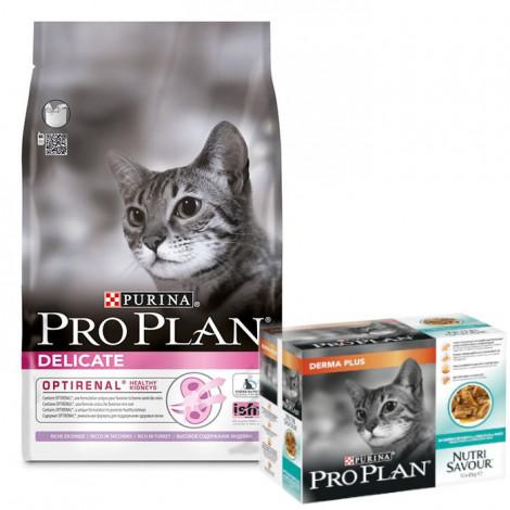 Pro Plan Delicate Optirenal Perú 3kg + 1 Pack Nutrisavour DermaPlus OFERTA
