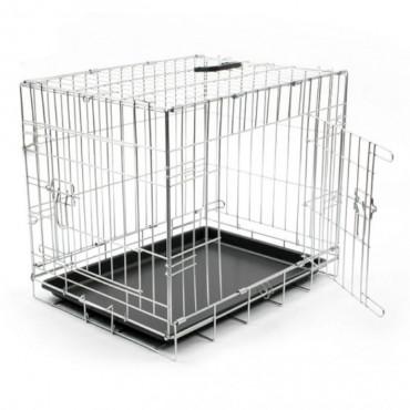 Duvo+ Jaula Transportadora Cromada Dog Crate c/ 2 Portas
