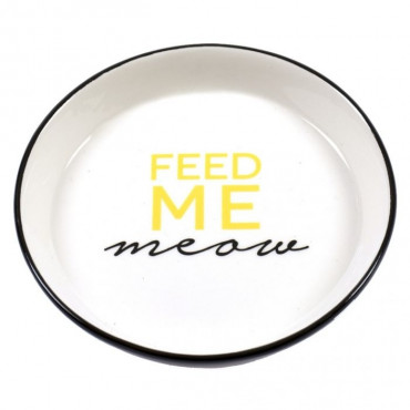 Duvo - Gamela Cerâmica Feed Me Meow