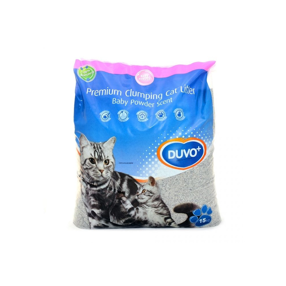 Duvo+ Cat Litter Babypowder 15kg