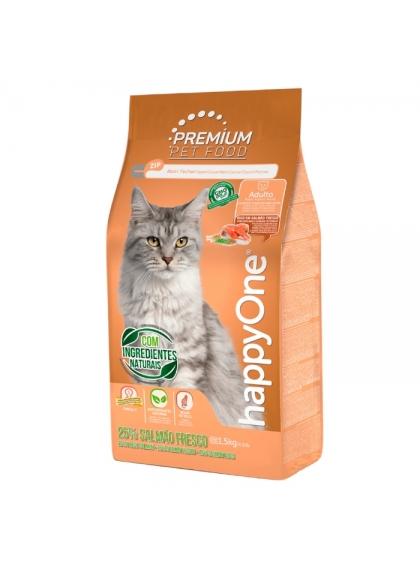 happyOne Premium Gato Adulto Salmão 1.5kg
