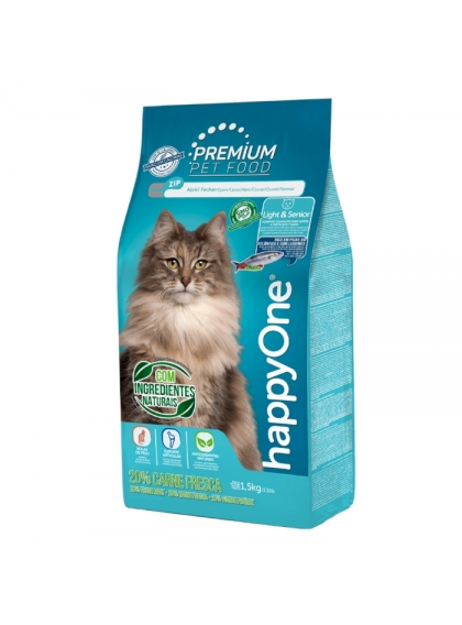 happyOne Premium Gato Light & Senior Carne Fresca 1.5kg