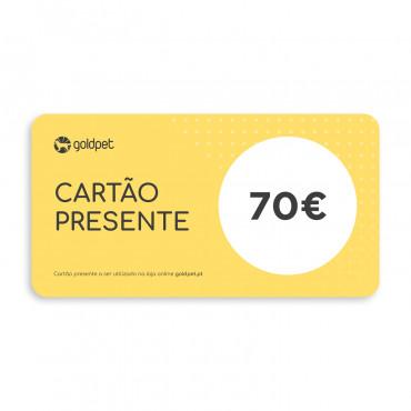 Cartão Presente Goldpet 70€