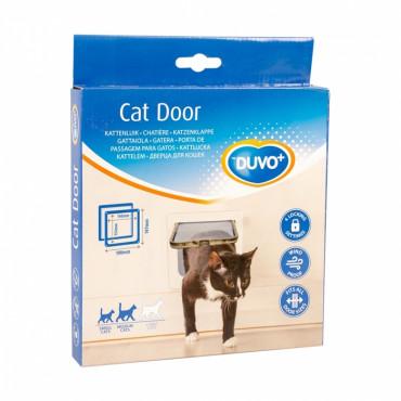 Duvo+ Porta para Gato Branca