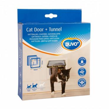 Duvo+ Porta para Gato com Túnel
