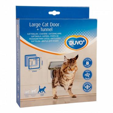 Duvo+ Porta Grande para Gato com Túnel