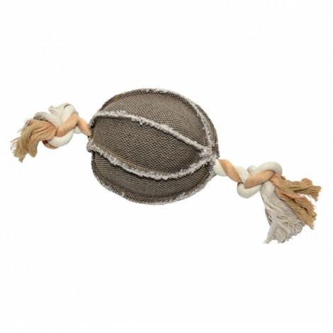 Duvo+ Bola em Tecido com corda para cão