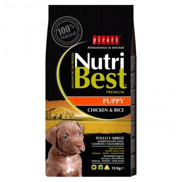 Picart Nutribest Premium Cão Puppy - Frango e arroz