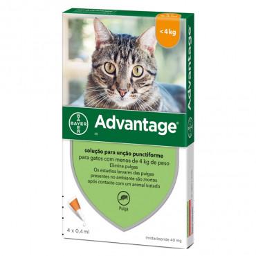 Pipetas pra gato até 4 kg Advantage
