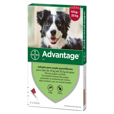 Pipetas para cão 10-25 kg Advantage