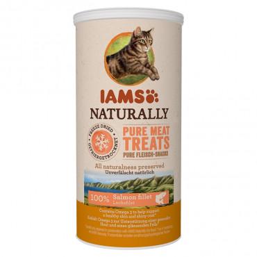 Iams Naturally Gato Freeze Dried Salmão