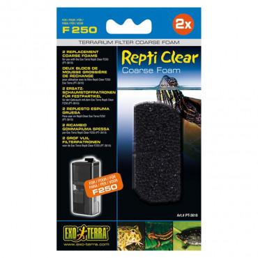 Exo Terra - Recargas Esponja FIna p/ Filtro Repti Clear F250