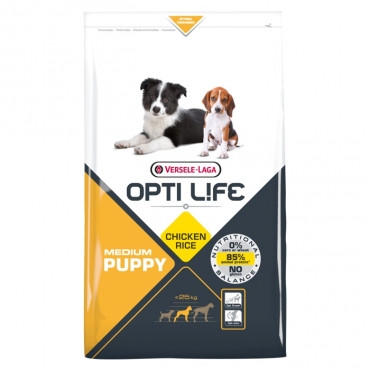 Opti Life Cão Puppy Medium - Frango e arroz