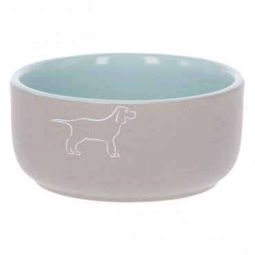 Kerbl Comedouro azul em cerâmica