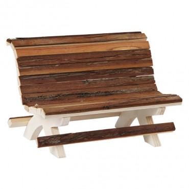 Kerbl Banco em madeira natural
