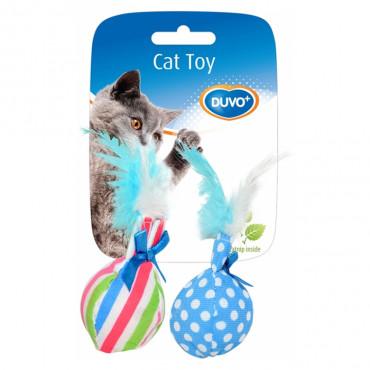 Duvo+ Bolas com pluma para gato