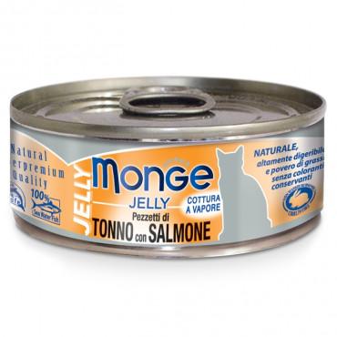 Monge Jelly Húmida Gato Adulto Atum com salmão
