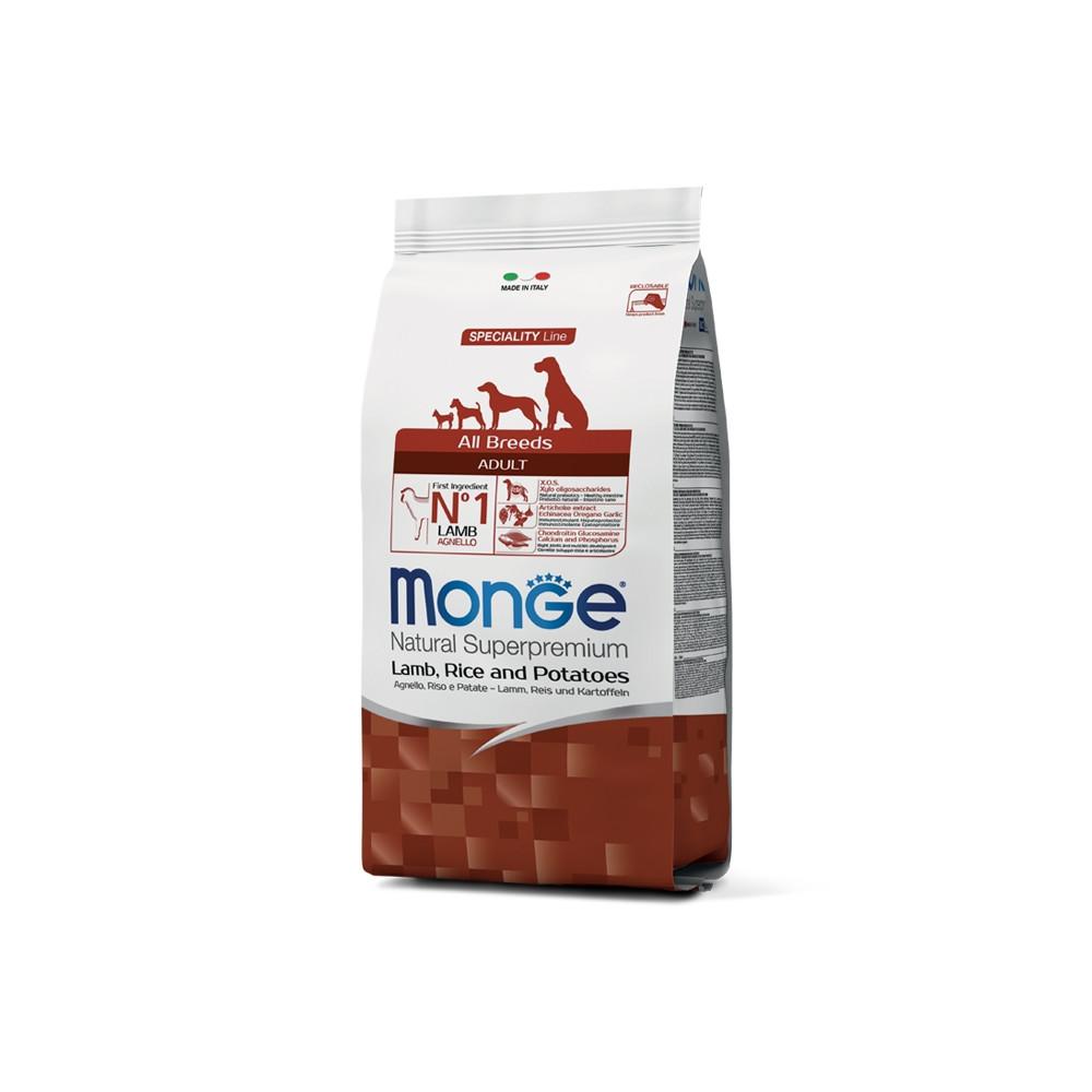 Monge Cão Adulto Cordeiro, arroz e batata