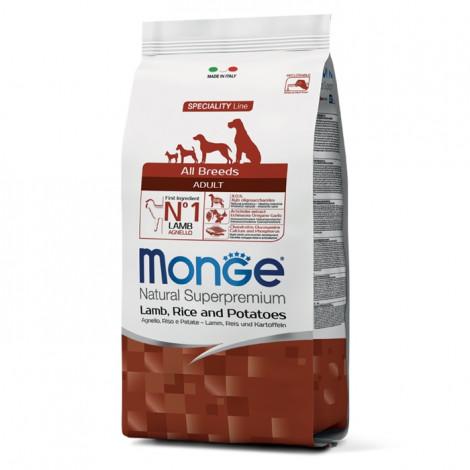 Monge Cão Adulto Borrego, arroz e batata
