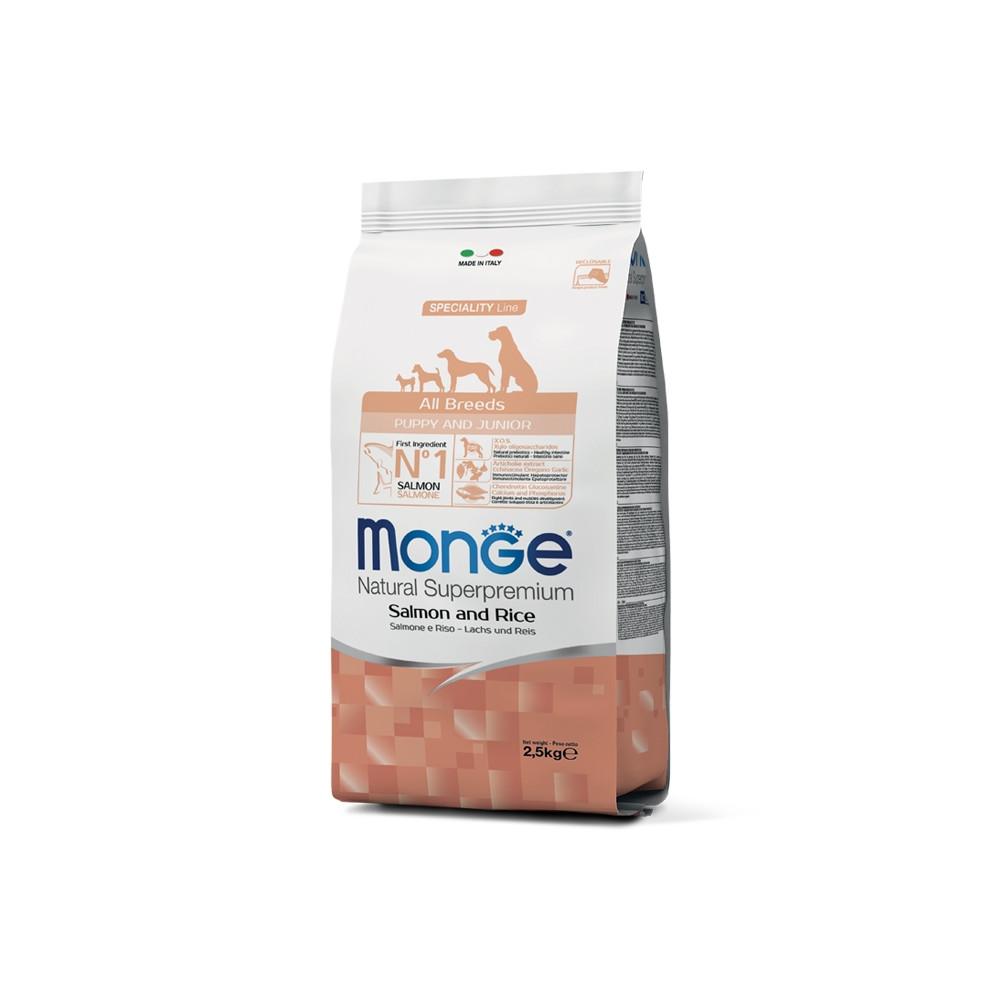 Monge Cão Puppy & Junior All Breeds Salmão e arroz