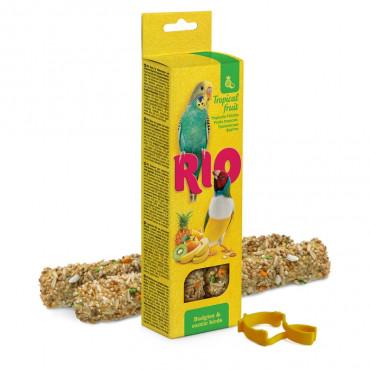 Rio - Sticks p/ Periquitos e Pássaros Exóticos c/ Fruta Tropical 2x40gr