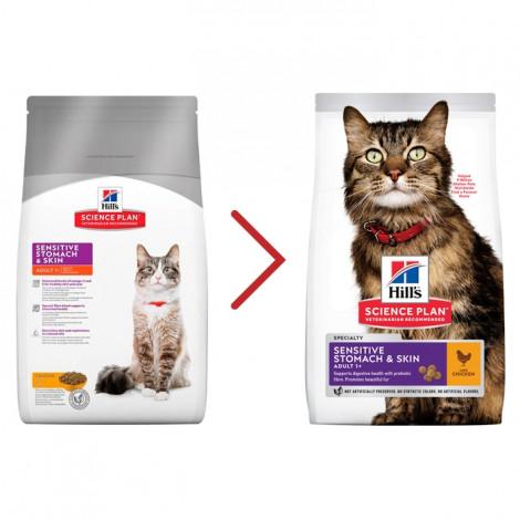 Hill's Sensitive Stomach & Skin Gato Adulto Frango