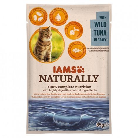 IAMS Cat Naturally Húmida Gato Adulto Atum