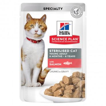 Hill's Cat Sterilised Salmão 85gr