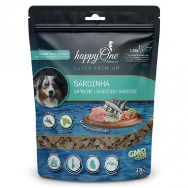 happyOne Mediterraneum Snacks Sardinha para Cão