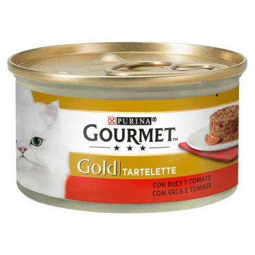 Gourmet Gold Tartelette Vaca com tomate Gato Adulto