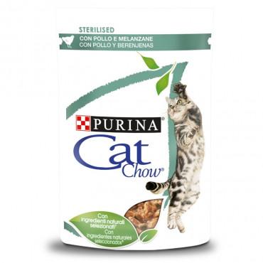 Cat Chow Sterilised Gato adulto Frango e beringela Húmida