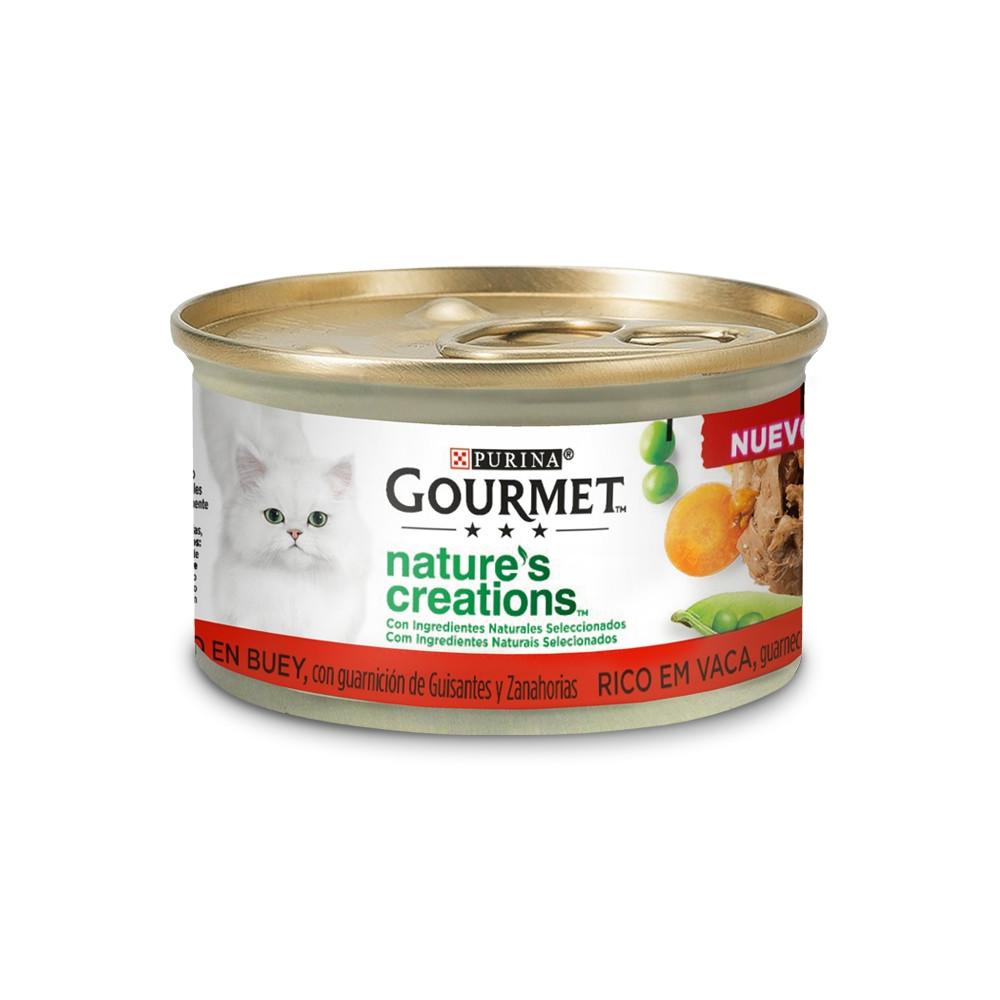 Gourmet Nature's Creations Gato Adulto Vaca, ervilhas e cenouras