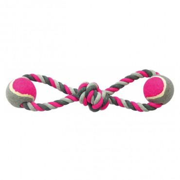 Duvo+ Corda com nó e bolas para cão