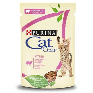 Cat Chow Borrego e curgete Kitten Húmida