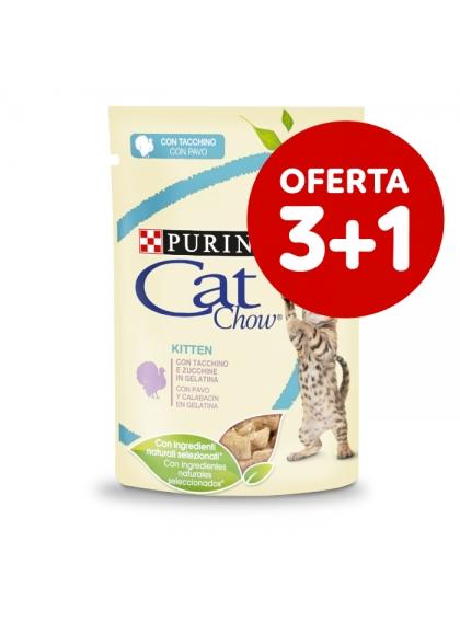 Cat Chow Kitten Peru e Curgete em molho