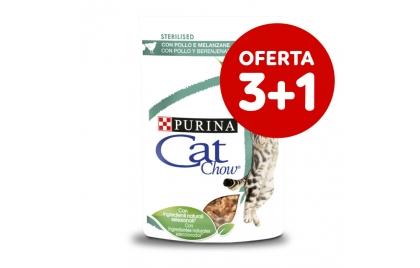 Cat Chow Sterilised Gato adulto Frango e beringela em molho