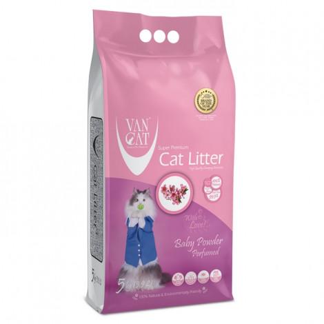 VanCat Baby Powder Areia de talco para gato