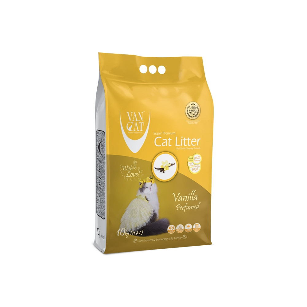 VAN CAT - Areia c/ Cheiro a Baunilha 10kg