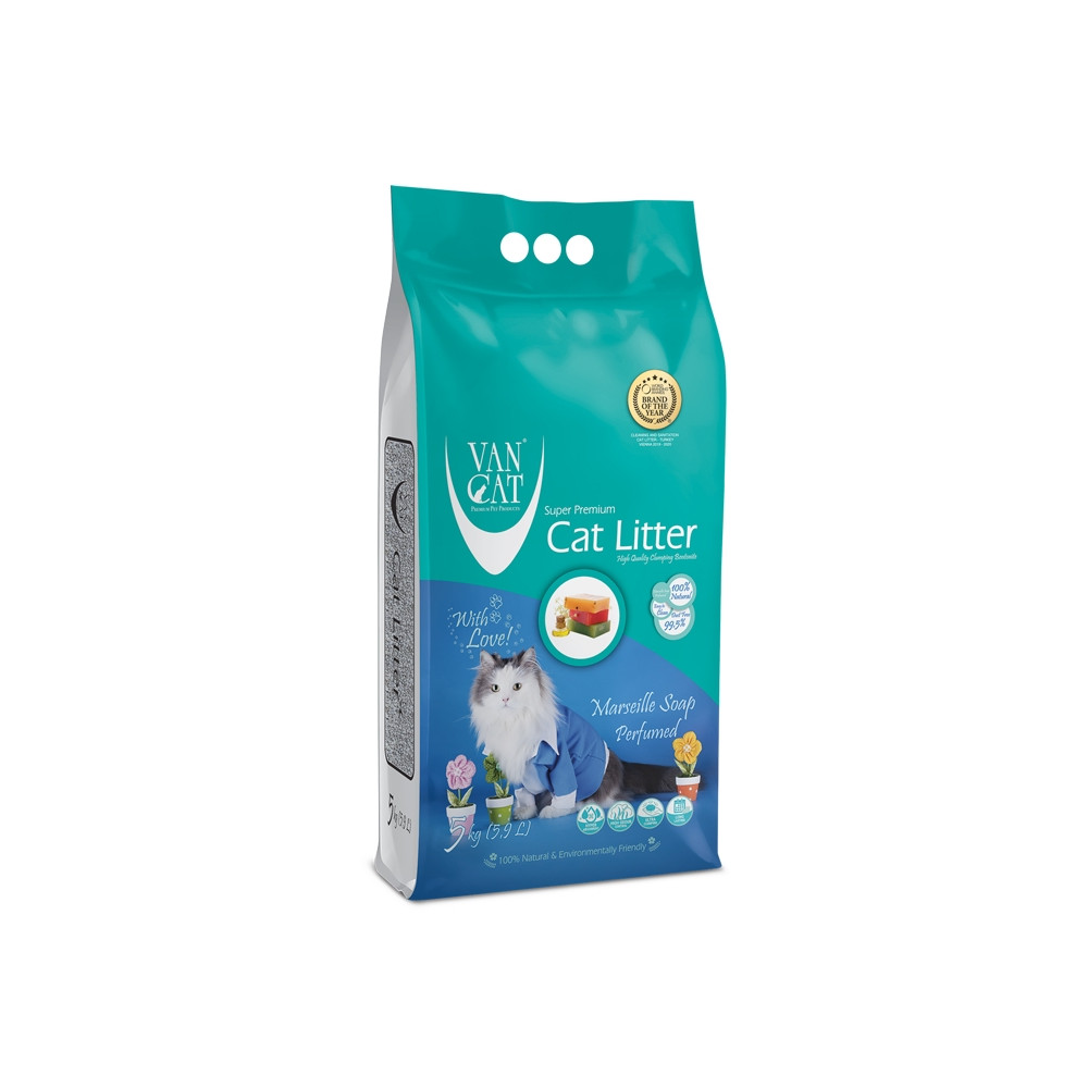 VAN CAT - Areia c/ Sabão de Marselha 10kg
