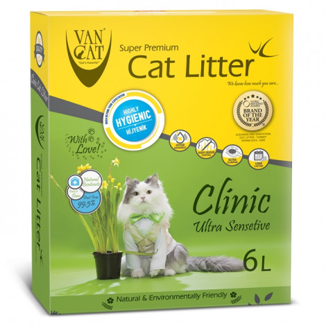 VanCat Clinic Ultra Sensitive Areia Antibacteriana para gato
